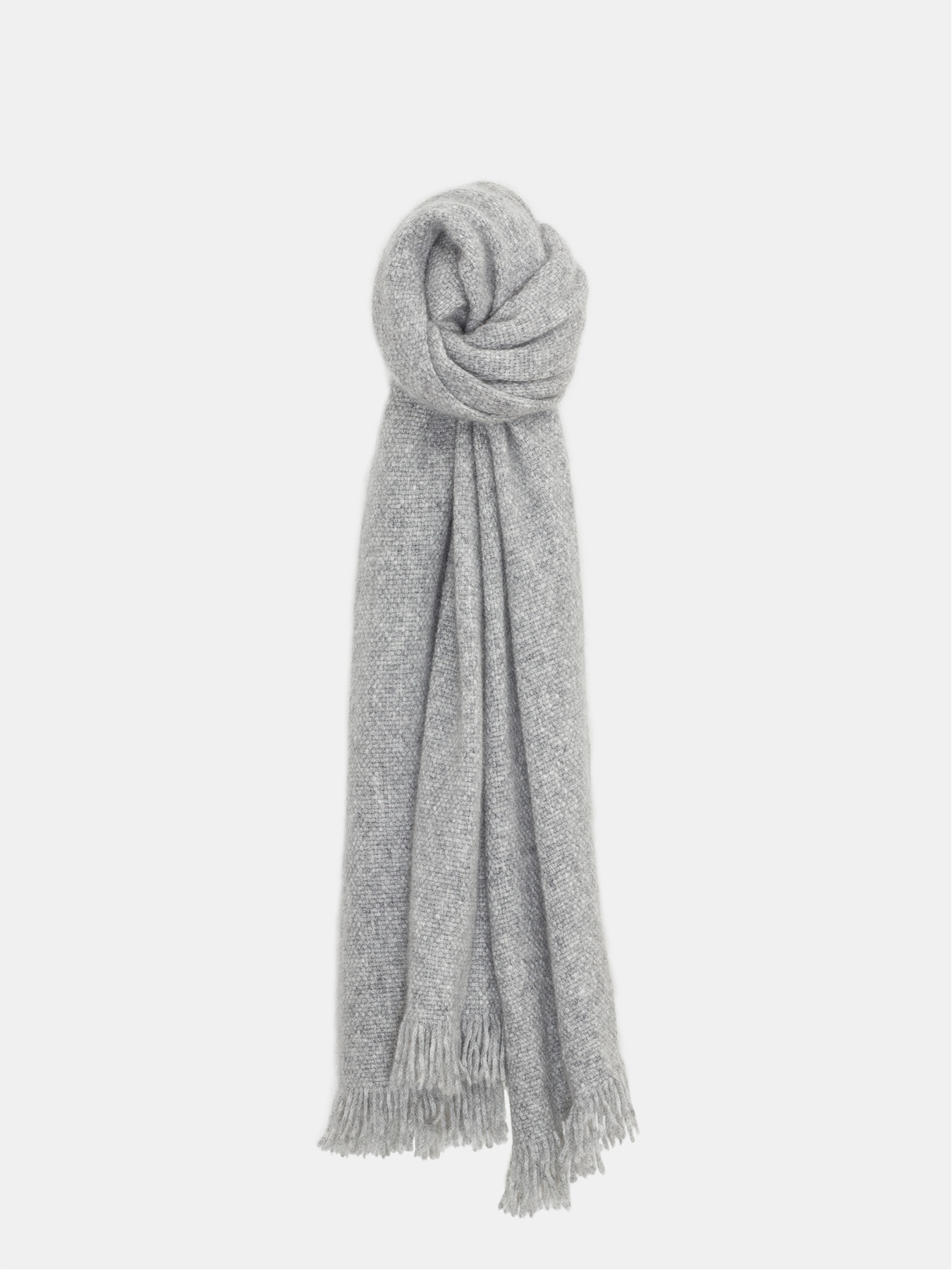 Classic Knitted Cashmere Scarf Grey | Nihao Planet